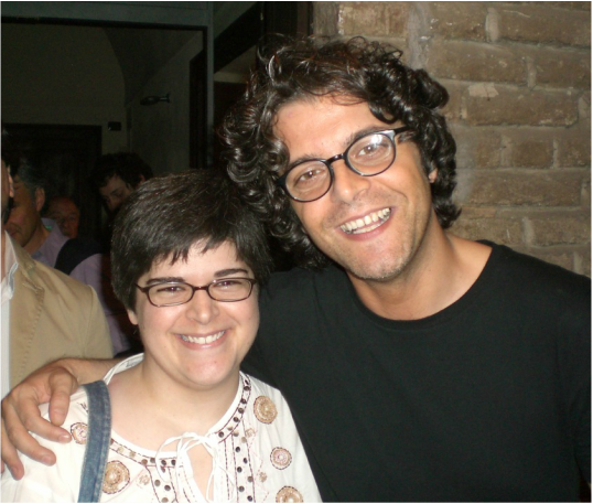 Me with Italian singer/songwriter Samuele Bersani (May 2010)